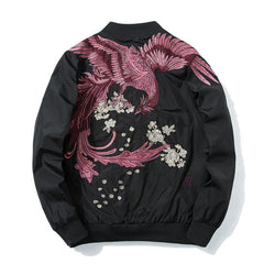 Suzaku Phoenix Embroidered Sukajan Bomber Jacket