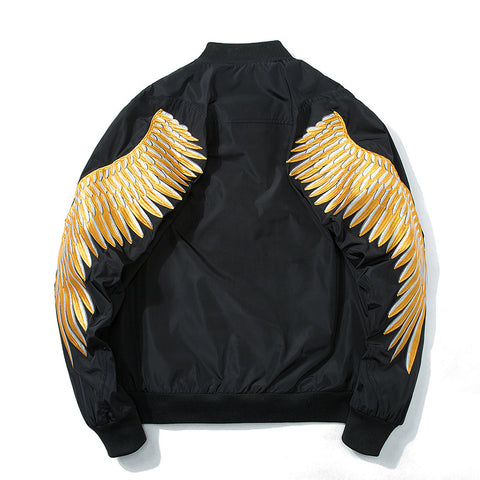 Winged Angel Embroidered Sukajan Bomber Jacket - Hype Ninjas