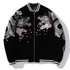 Autumn Dragon Embroidered Sukajan Heavy Jacket