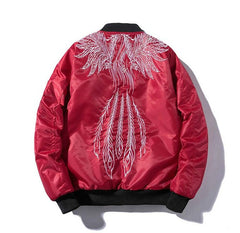 Phoenix Tail Embroidered Sukajan Bomber Jacket