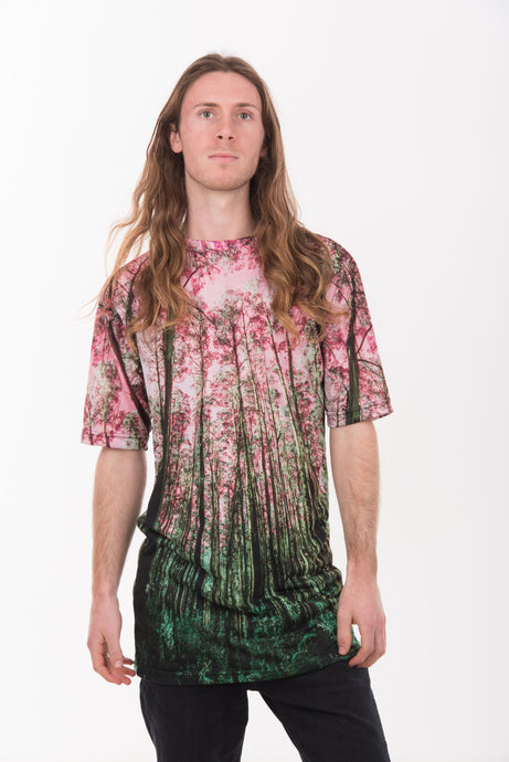 Tera Tee Pink Forest Print