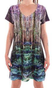 T- Shirt Dress Forest Print#5