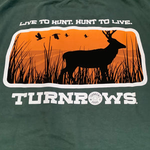 Live to Hunt Turnrows Brand Shirt