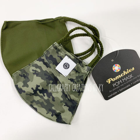 Camo/Green Pomchies Mask - 2 pack