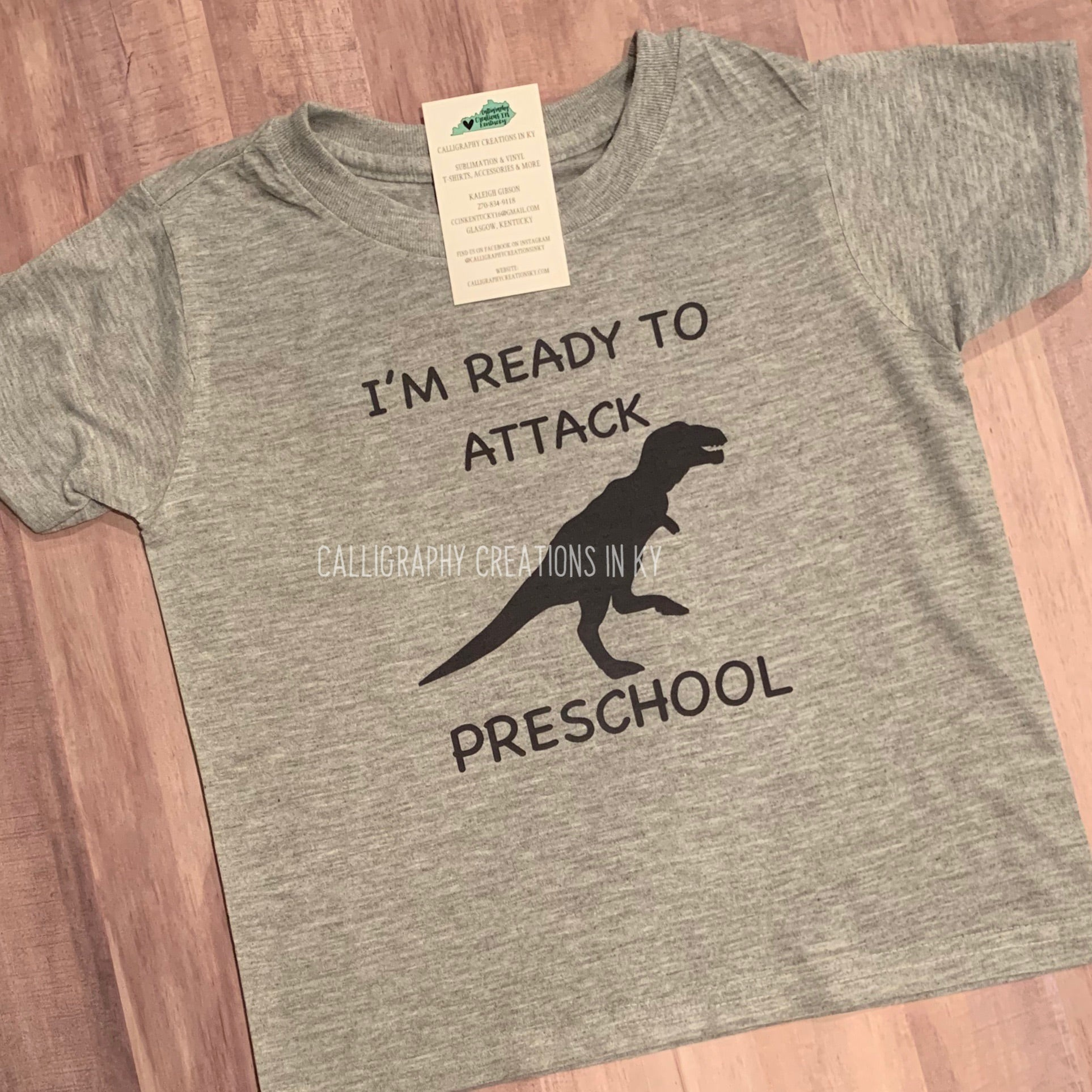 I'm Ready To Attack Preschool - Dinosaur