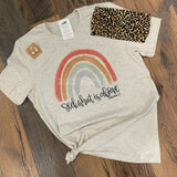 Seek What Is Above Colossians 3:2 Rainbow Tee