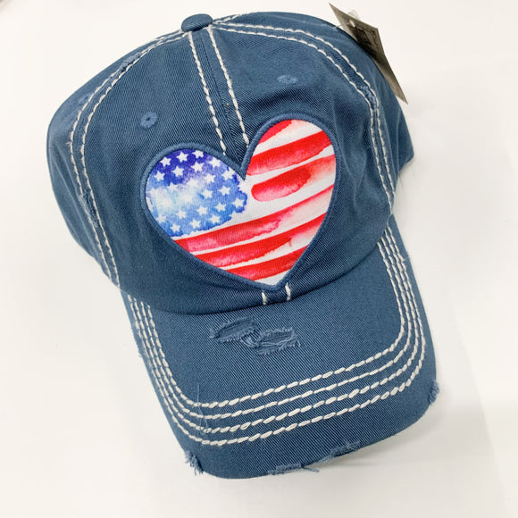 USA Heart Hat