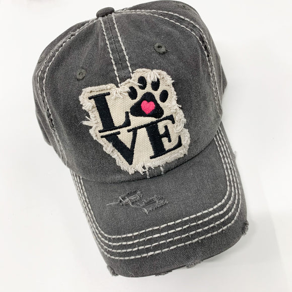 Love Pawprint Hat