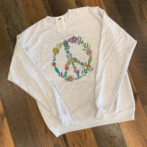 Peace Sweatshirt - Heather White