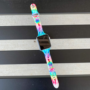 Light Rainbow Tie Dye Watch Band (38/40 MM)