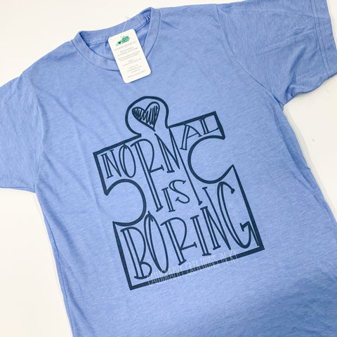 Normal Is Boring Tee (Light Blue)