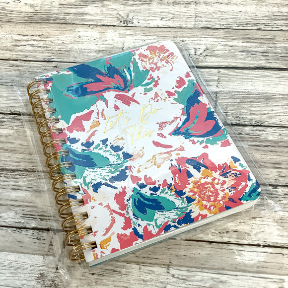Mary Square Peony Sorbet Mini Spiral Notebook