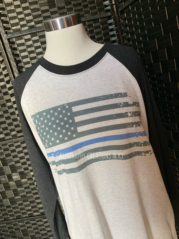 Thin Blue Line Flag (Raglan)