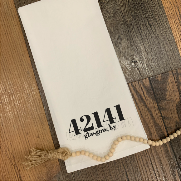 42141 Glasgow KY Tea Towel