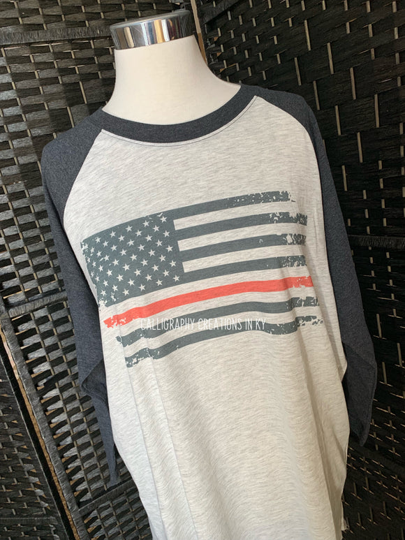 Thin Red Line Flag (Raglan)