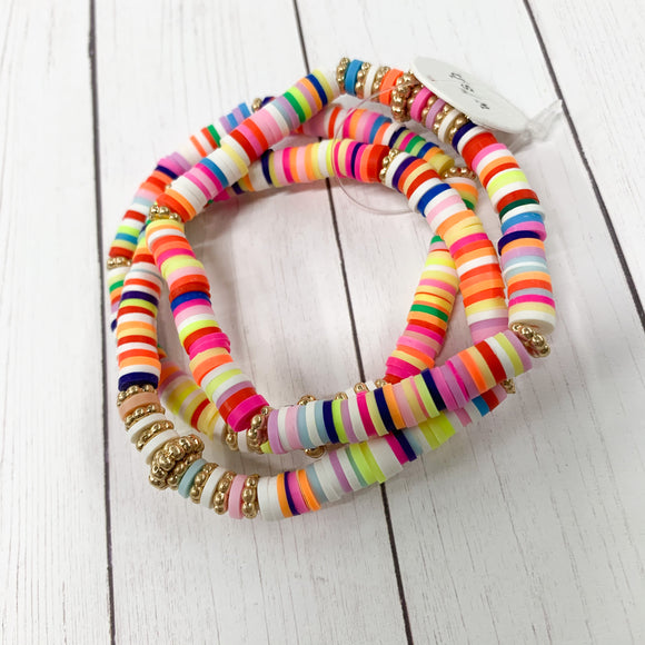 Choose Happy Bracelet Stack