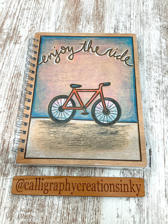 Primitives By Kathy Enjoy The Ride Spiral Notebook
