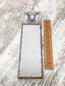Primitives By Kathy Magnetic List Notepad-Shaggy Cow