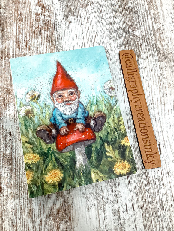 Primitives By Kathy Gnome Lay-Flat Notebook