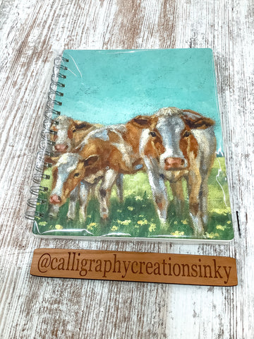 Primitives By Kathy Cow Row Spiral Notebook
