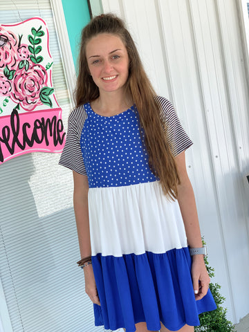 Blue Polka Dot Tunic