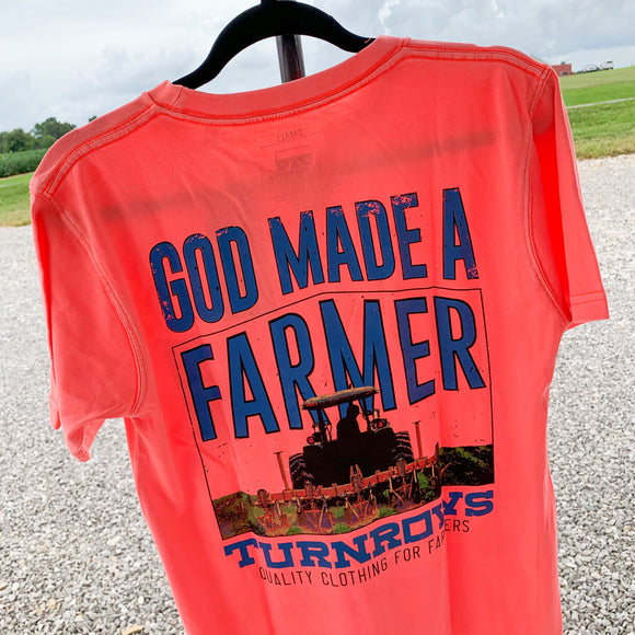 God Made A Farmer Turnrows T-Shirt