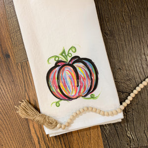 Rainbow Pumpkin Tea Towel