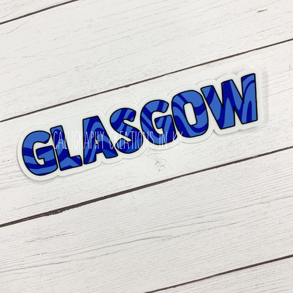 Original Glasgow Swirl Sticker