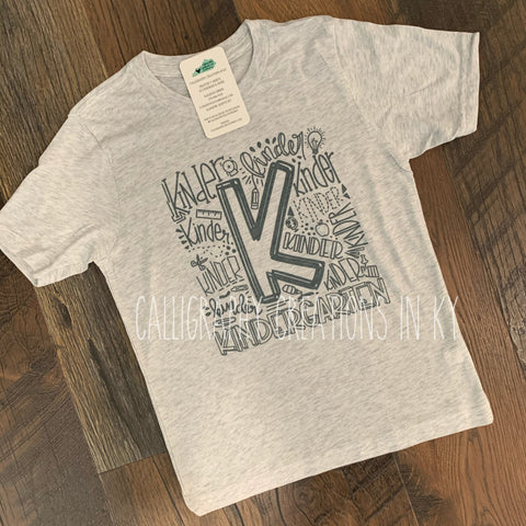 Youth Word Art Tee (pick your grade)