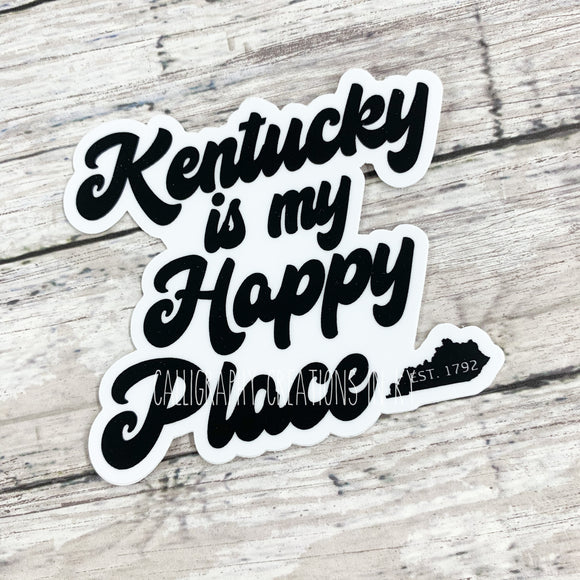 Kentucky Is My Happy Place Sticker
