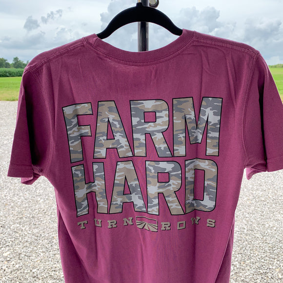 Farm Hard Camo Turnrows T-Shirt