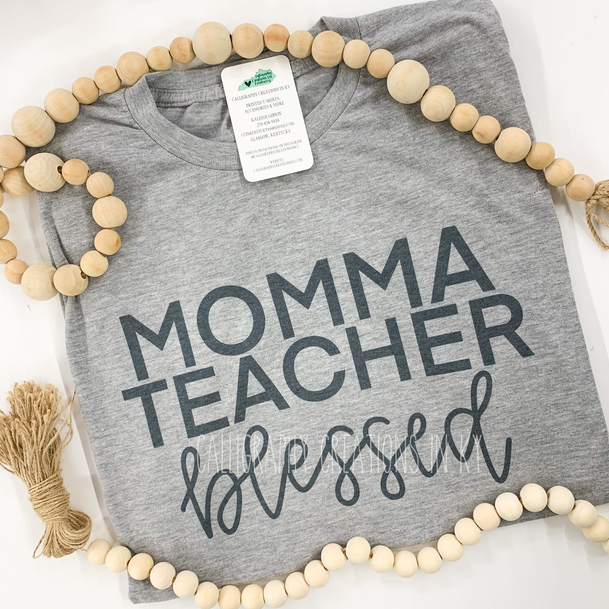 Momma Teacher Blessed Tee