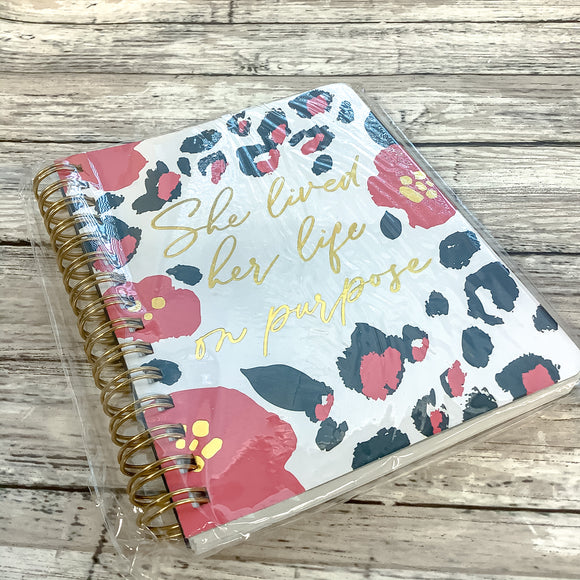 Mary Square Wild Posy Mini Spiral Notebook