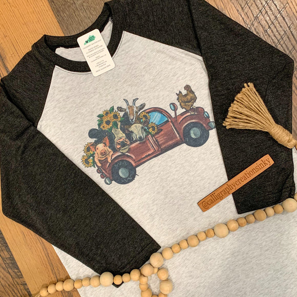 Farm Friends Truck Raglan