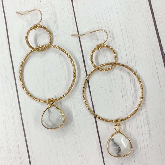 Marble Multi-hoop Earrings