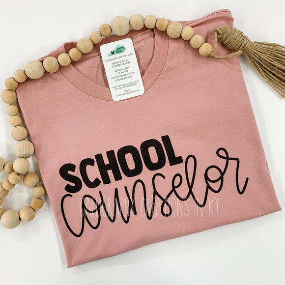 School Counselor Tee