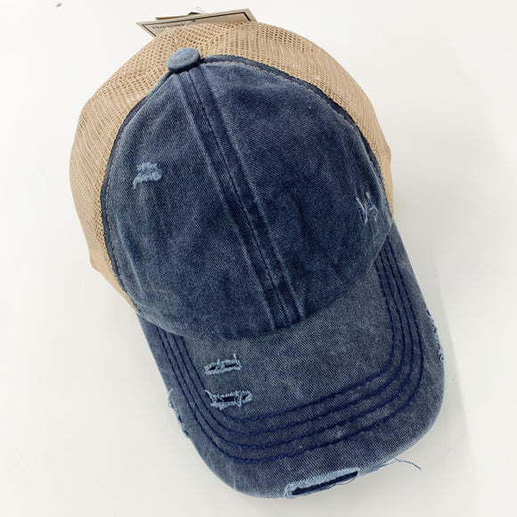 C.C. Pony Cap - Denim Navy
