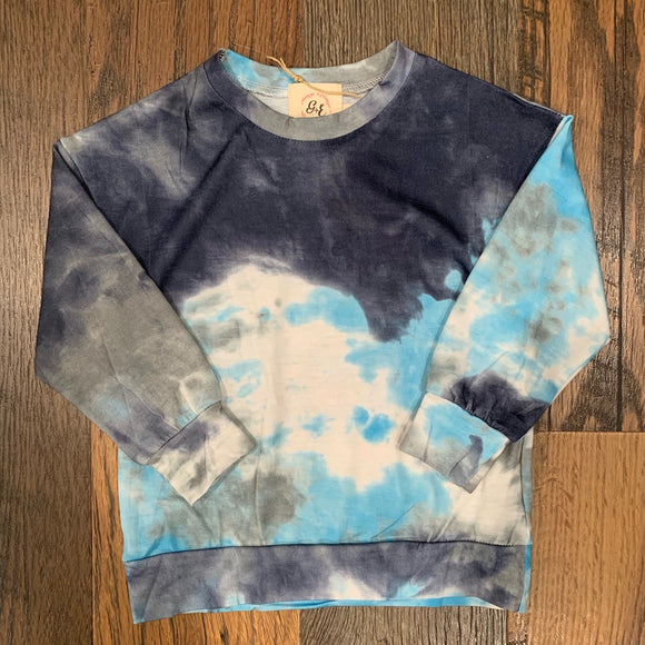 The Favorite Tie Dye Long Sleeve - Blue YOUTH