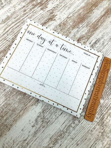 Primitives By Kathy One Day At A Time Notepad