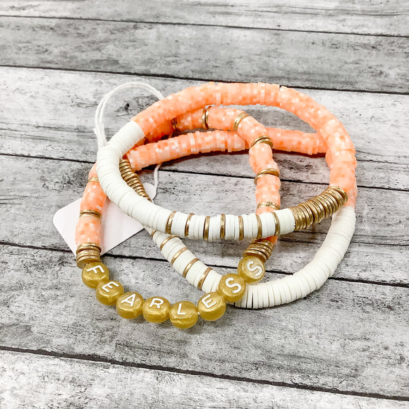 Orange Sherbet Bracelet Stack