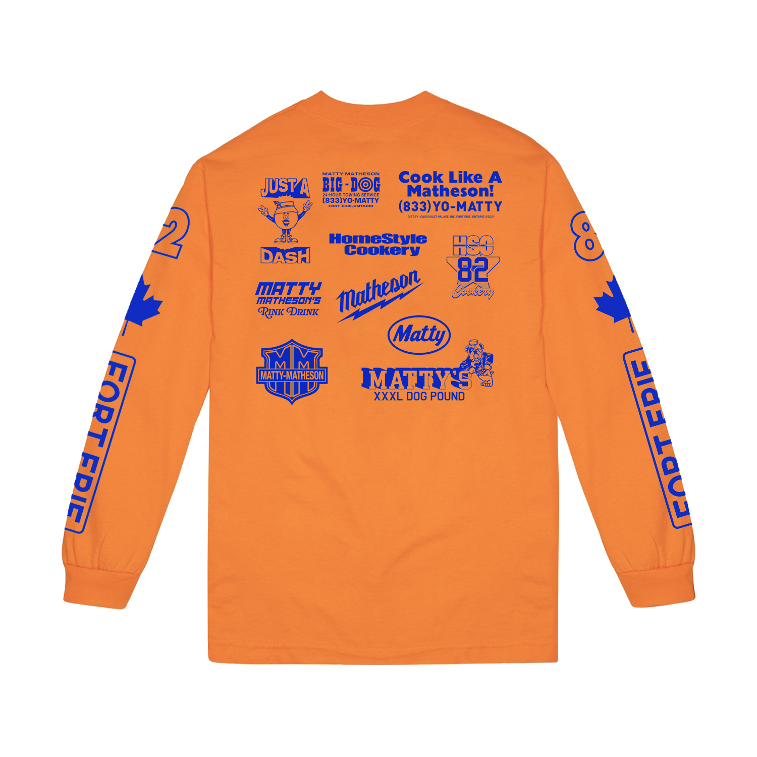 Tournament Long Sleeve Tee Orange