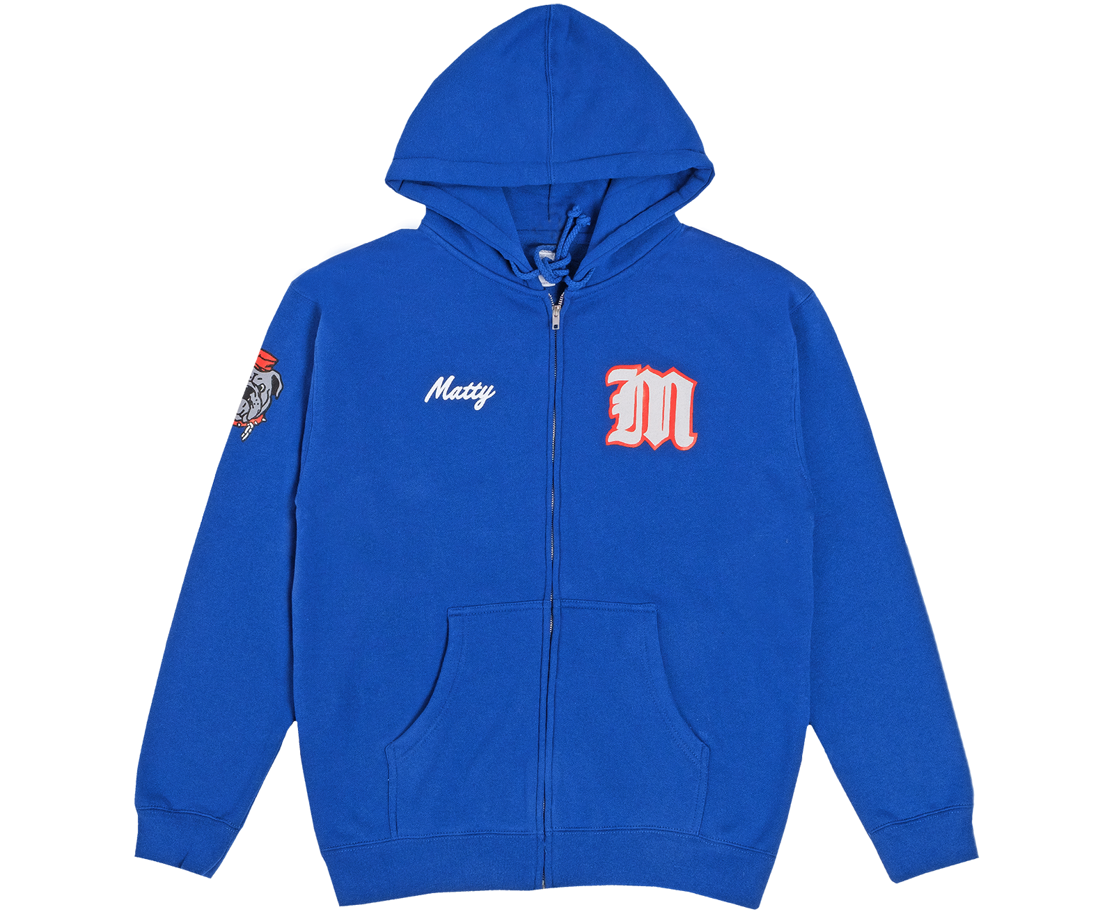 Big Dog Letterman Zip Hoodie