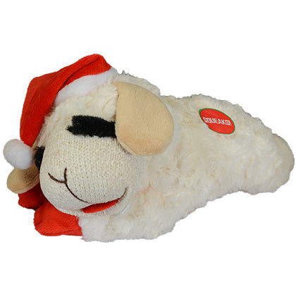 holiday lampchop with santa hat toy - 2 sizes