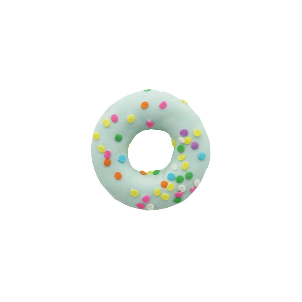 spring donuts - blue with sprinkles