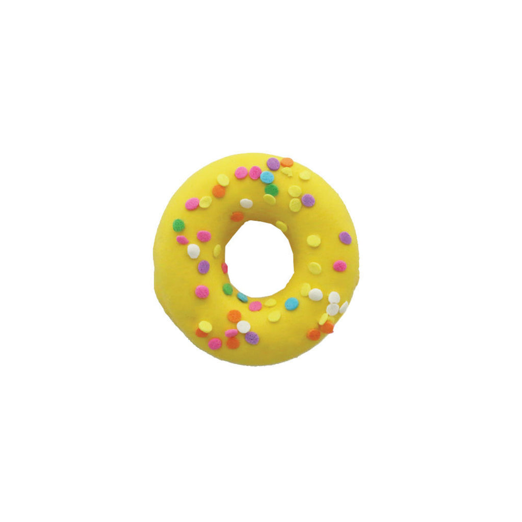 spring donuts - yellow with sprinkles