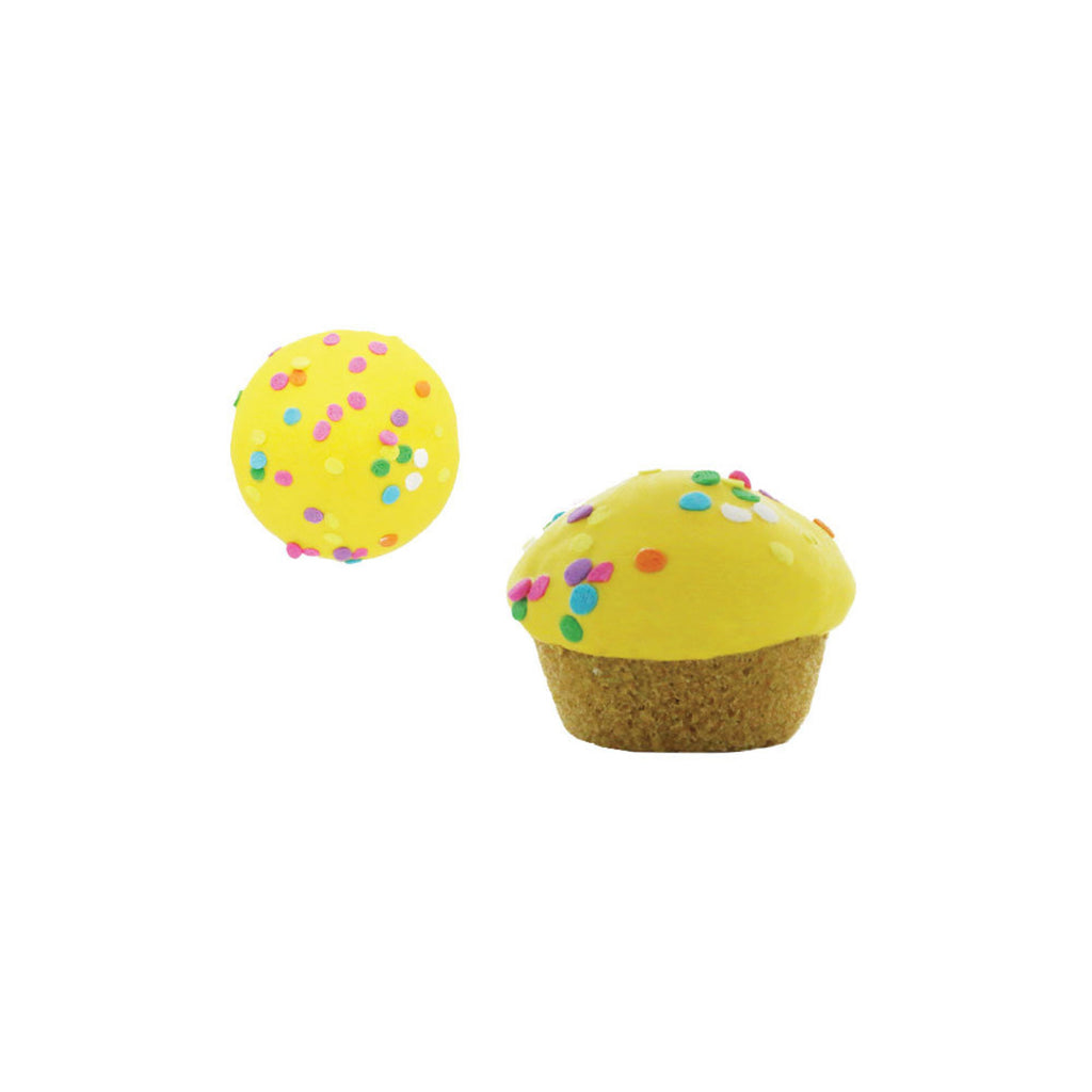 vanilla cupcakes - yellow with sprinkles