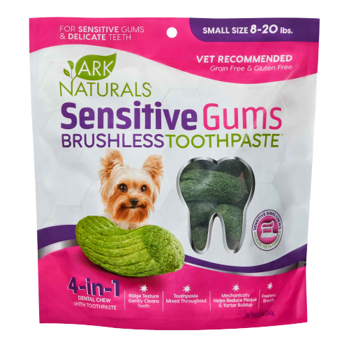 ark naturals brushless toothpaste sensitive gums dental chews