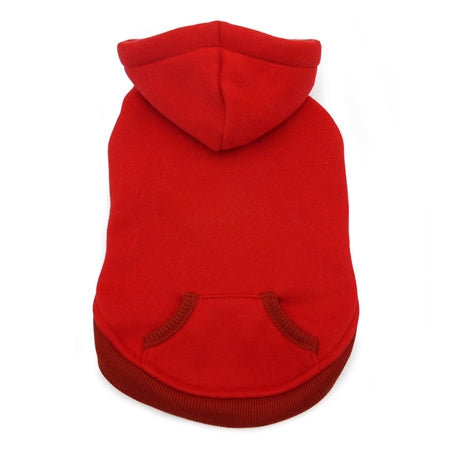 drawstring hoody - red