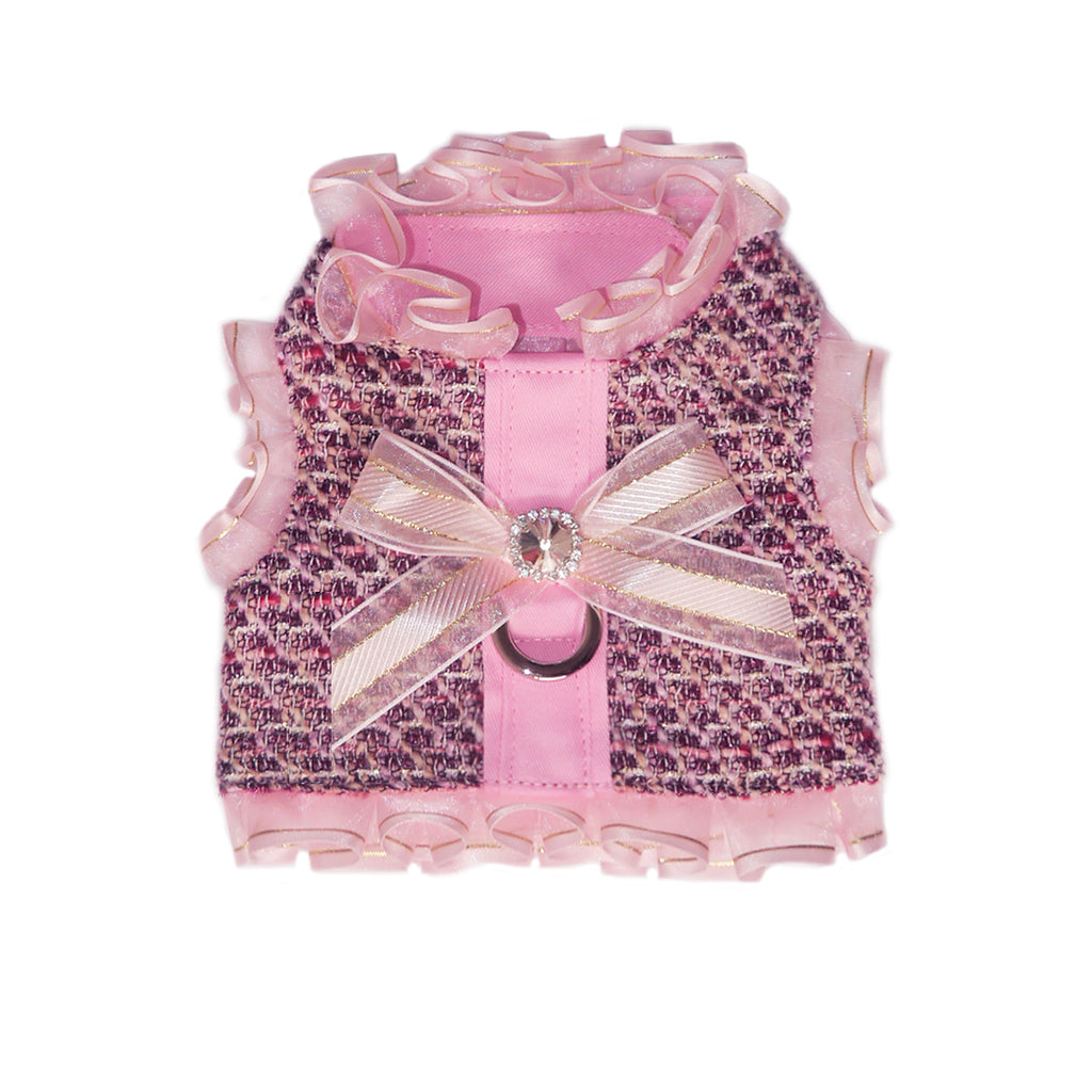 pretty pink tweed harness