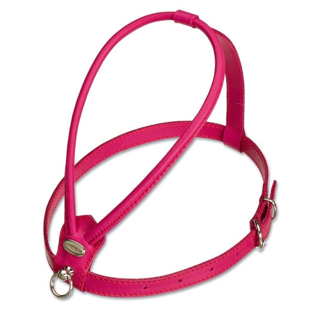 nappa leather harness - fuchsia